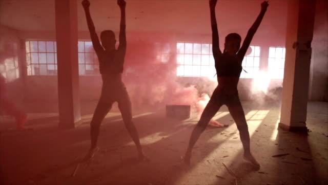 Dancing in the smoke video