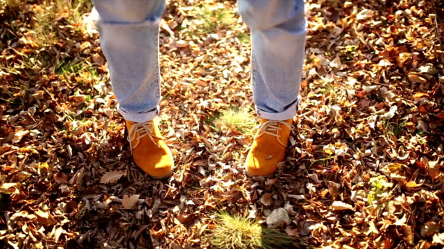 Dancing Legs jeans and leaves