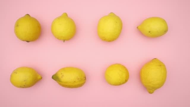 dancing lemons - stop motion animation - лимонный сок стоковые видео и кадры b-roll