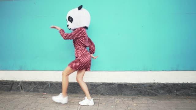 dans eden panda - nükteli stok videoları ve detay görüntü çekimi