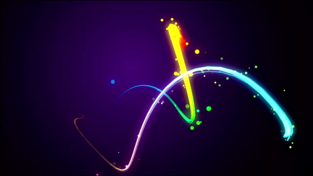 танец частицы света проходит циклы движения - lightning стоковые видео и кадры b-roll