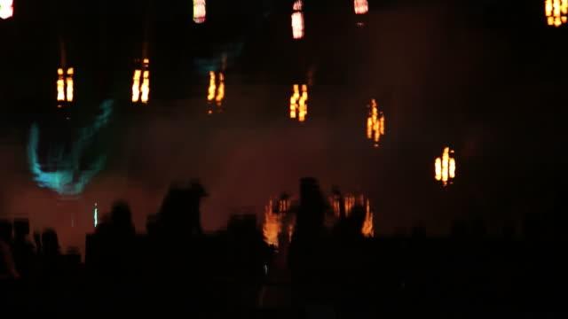 Dancing people in night club video