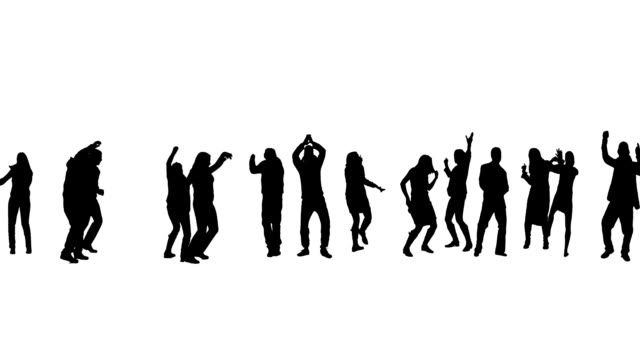 Dancing people http://pablonis.pl/is/best.jpg silhouette people stock videos & royalty-free footage