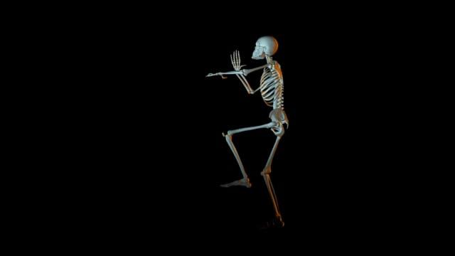 i̇skelet animasyon dans - i̇nsan i̇skeleti stok videoları ve detay görüntü çekimi