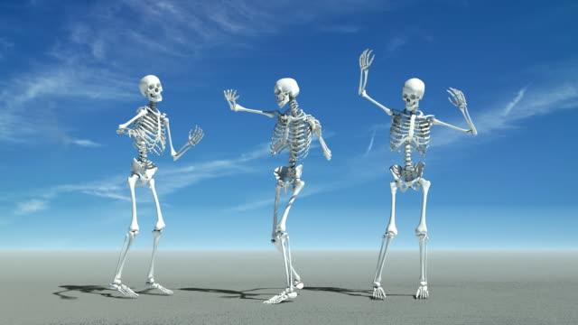 dancing skeletons - i̇nsan i̇skeleti stok videoları ve detay görüntü çekimi