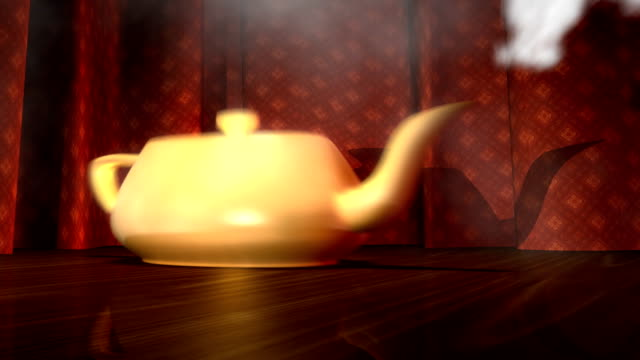 dancing teapot 3d motion background - teapot stock videos & royalty-free footage