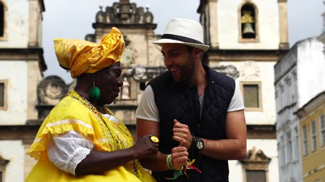 Dancing With Baiana - Brazilian Woman in Salvador, Bahia, Brazil Dancing With Baiana - Brazilian Woman in Salvador, Bahia, Brazil performer stock videos & royalty-free footage