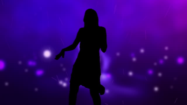 Dancing Woman Silhouette With Colourful Background