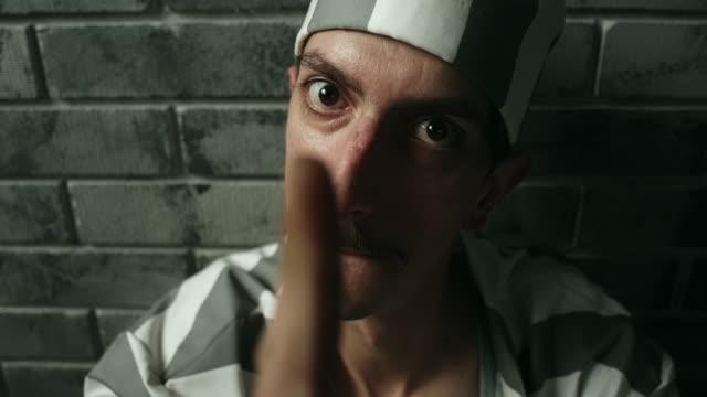 Dangerous men threatening at prison cell video