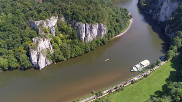 Danube Gorge (Donaudurchbruch) In Kelheim-Weltenburg In Bavaria video
