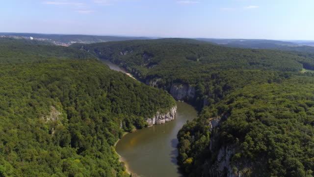 Danube Gorge (Donaudurchbruch) Near Kelheim In Bavaria video