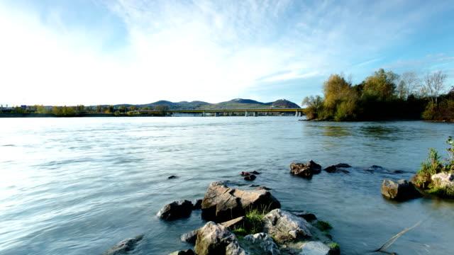 Danube River in Vienna - time lapse video