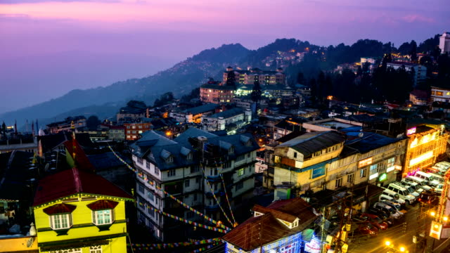 LD TL D2N Darjeeling city view from high angle shot video
