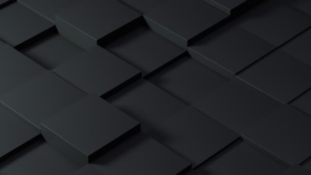 Video Dark abstract background consisting of black identical boxes