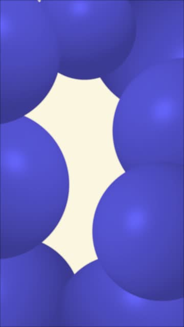 Dark Blue Abstract Sphere Balloons or Balls Wiggle Funny Background Stock Video