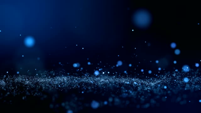 Dark blue and glow particle abstract background. video
