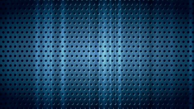 Dark blue chrome perforated metal texture video animation