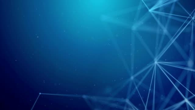 mörk blå geometrisk abstrakta anslutna linje och prickar sömlös loop bakgrund. vetenskapliga koncept för din presentation. mikrobiologi modern medicinsk teknik, vetenskap och innovation-konceptet - nod bildbanksvideor och videomaterial från bakom kulisserna