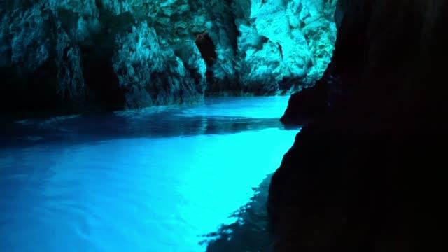 MS Dark blue ocean cave,Bisevo,Croatia, Modra Spilja Dark blue ocean cave,Bisevo,Croatia. Real time. cave stock videos & royalty-free footage