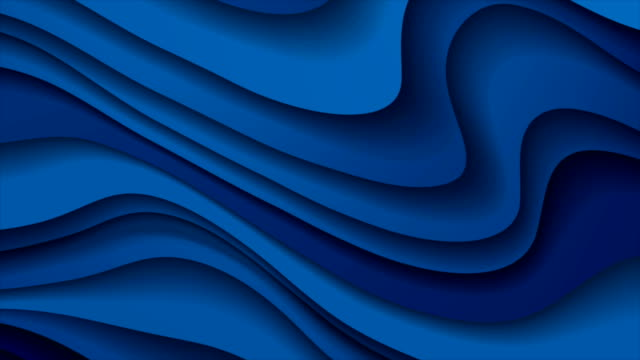 dark blue paper waves abstract video animation - vivid 4k video stock videos & royalty-free footage