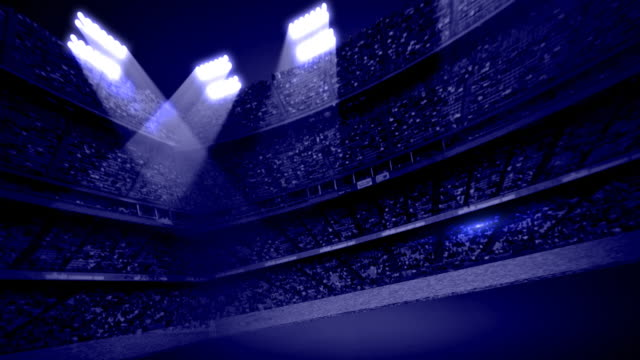 Dark Blue Stadium Stands Background Loop video