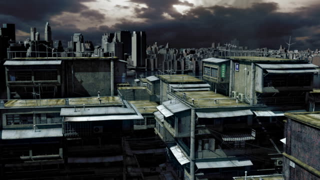 dark cityscape video