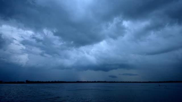 Dark Cloud at Lake Time Lapse video