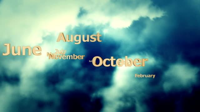 nubi e mesi - luglio video stock e b–roll