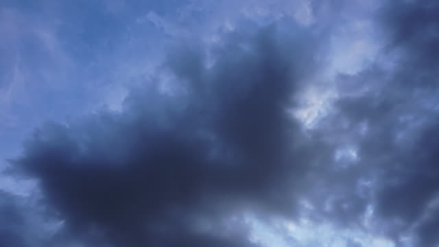 Dark Clouds Moving Time Lapse 4K Video