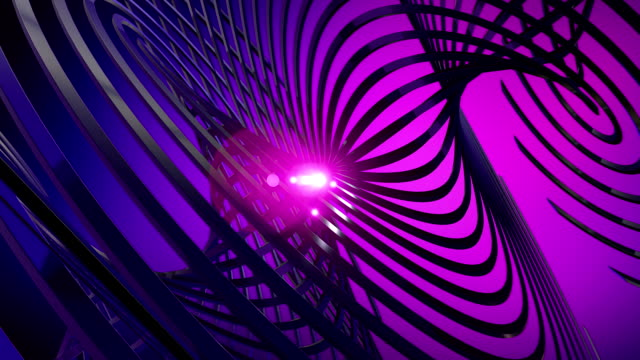 dark complessa forma con astratto animazione luminosa core - scultura video stock e b–roll