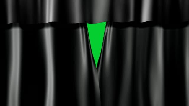 dark curtains stage video