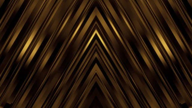 Dark Elegant Gold Symmetrical Wall Background Loop