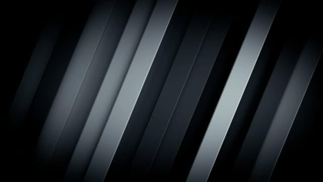 対角線ストライプのシームレスなループ 3d レンダリング アニメーションを持つ濃い灰色の背景 - 斜めから見た図点の映像素材/bロール