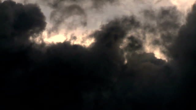 Dark grey stormy clouds video