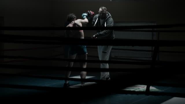 Dark gym boxing video