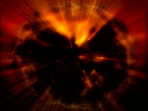 dunkle thema bildung-vor ausblenden - weltraum und astronomie stock-videos und b-roll-filmmaterial