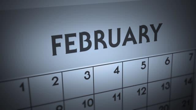 Dark Ominous Calendar Page animation - February
