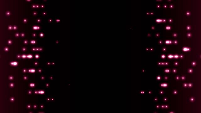Dark purple abstract glowing circle lights video animation video
