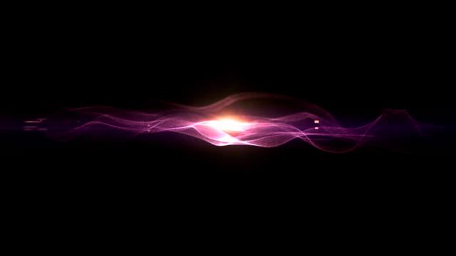 濃い紫の線とエネルギー ビデオ