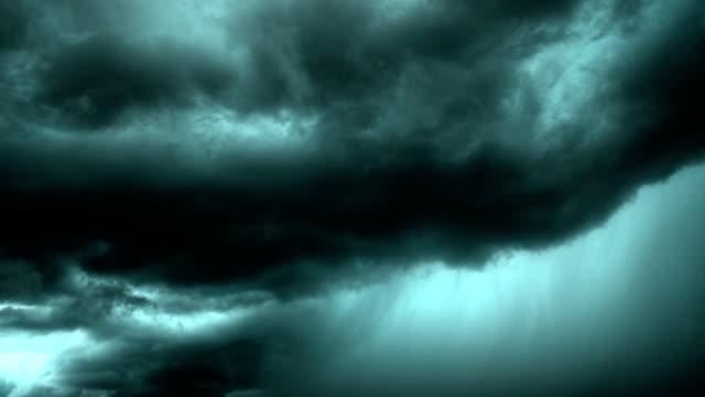 Dark rain cloud video