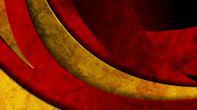 Dark red and golden waves grunge abstract motion background