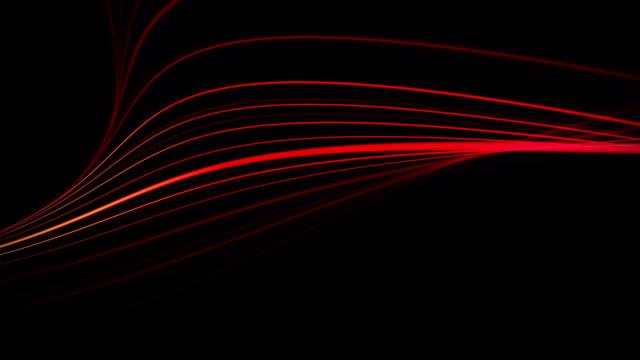 vídeos de stock, filmes e b-roll de vermelho escuro linhas backgrounds (loopable) - light trail