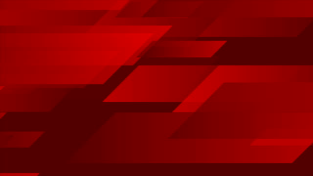 Dark red tech geometric abstract motion background
