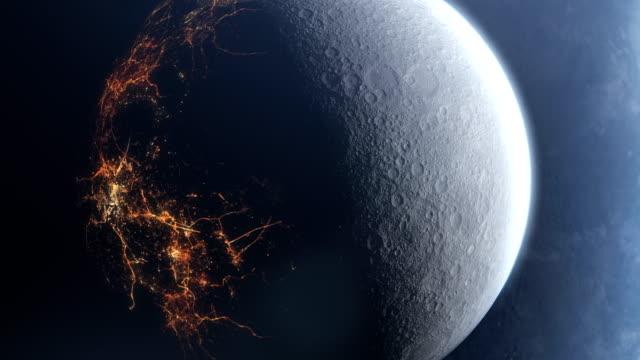 vídeos de stock, filmes e b-roll de lado escuro da lua. civilização escondida. nasa imagens de domínio público - civilização milenar