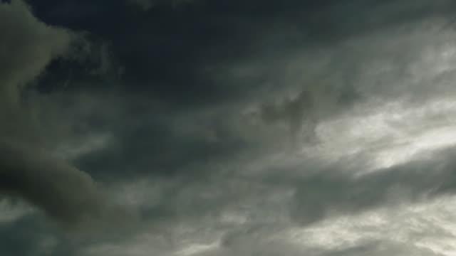 Dark storm cloud sky calm before the storm cloudscape