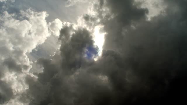 Dark stormy clouds obscuring sun 4K: dark stormy clouds obscuring sun covering stock videos & royalty-free footage