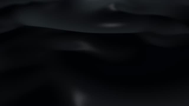 Dark surface with reflections. Smooth minimal black waves background. Blurry silk waves animation loop. Minimal soft grayscale ripples flow. 4k UHD