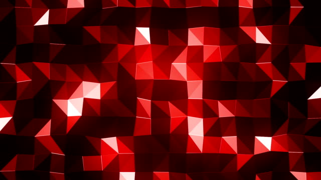 vídeos de stock e filmes b-roll de dark triangles background (loopable) - vr red background