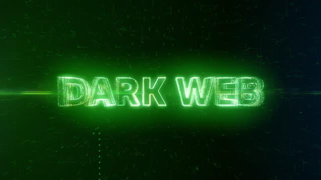 Dark Web words animation