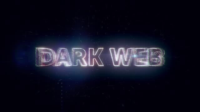 dark web words animation - censura video stock e b–roll